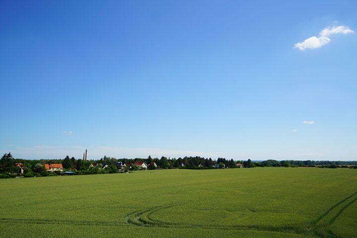 Freier Blick von der Villa am Monarchenhügel in Leipzig