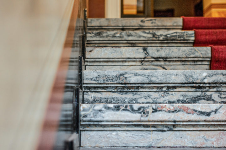 Details Treppe in der Villa Schreiber