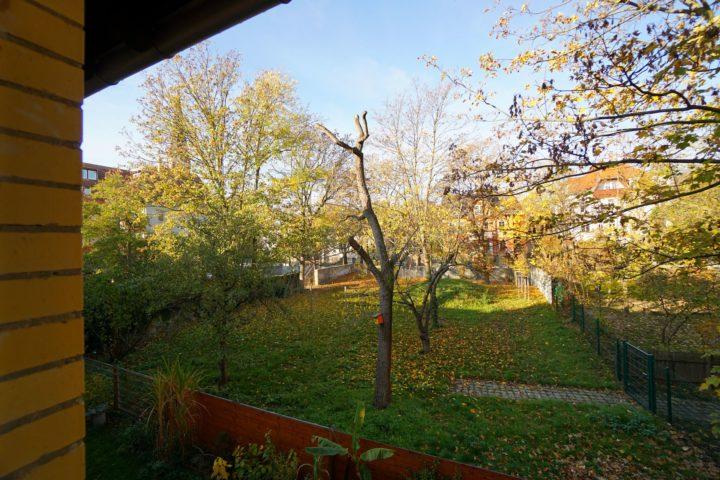 Blick in den Garten vom Kutscherhaus Alte Straße Leipzig