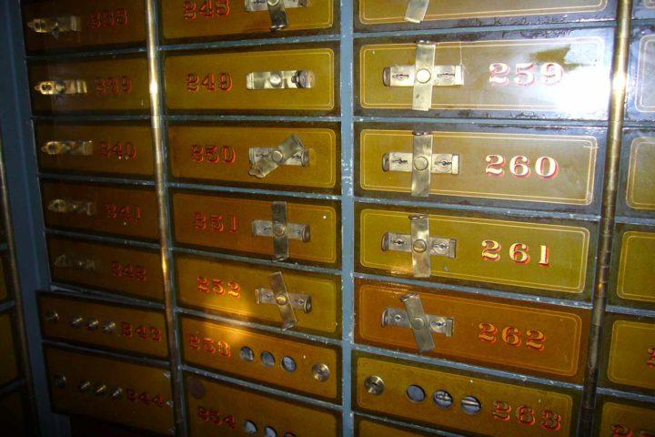 Innenansicht Details Bank Palais