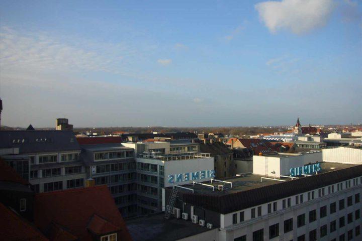 Blick über die Stadt Leipzig vom Bank Palais aus