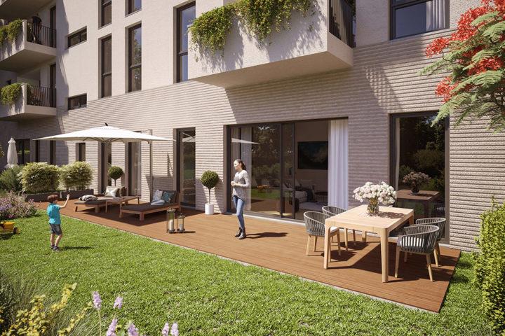 Beispiel Garten mit Terrasse Fregestraße
