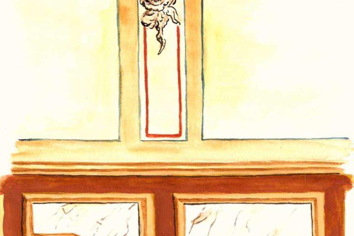 Details der Wände Villa Schreiber